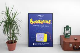 Pôster ilustrado, assessoria de imprensa e produção de show do Boogarins (GO) em Fortaleza, dentro do projeto Show das Cinco.